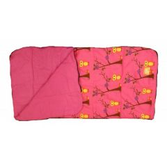 Pink Owl Sleeping Bag Open