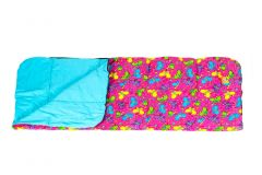 Bright Butterfly Sleeping Bag opened
